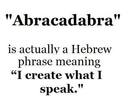 Hebrew Word of the Day ABRACADABRA